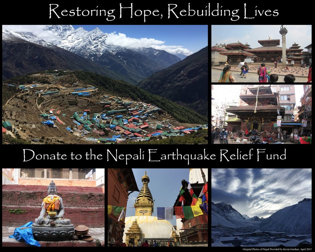 "Nepali Earthquake Relief Fund - ""Original Photographs courtesy of Kevin Gardner, April 2015"""